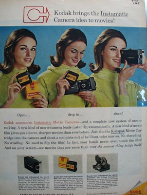 Kodak Camera Idea to Movies Ad 1965