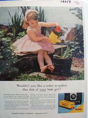 Kodak Your Best Girl Ad 1959
