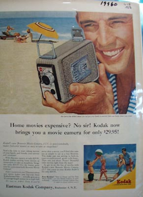 Kodak Home Movies Expensive Ad 1956