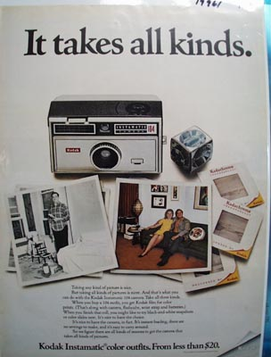 Kodak Takes All Kinds Ad 1968