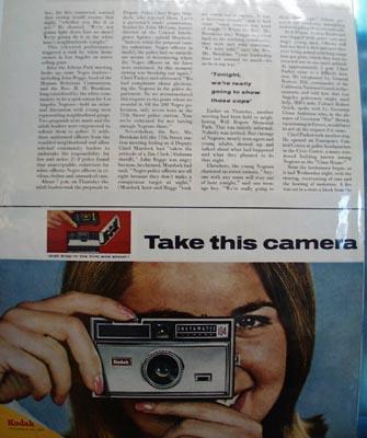 Kodak Take This Camera Ad 1966