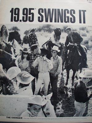 Polaroid 19.95 Swings It Ad 1967