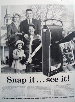 Polaroid Snap It  See It Ad 1957