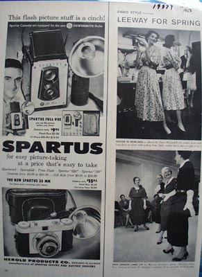 Spartus Stuff IS A Cinch Ad 1956