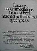 Royal Doulton Luxury Accommodations Ad 1972