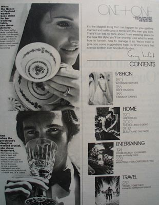 Aynsley & Waterford  China & Crystal Ad 1972.