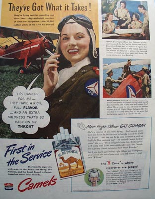 Camel First In The Service Ad 1943