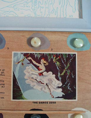 Hasbro Hobby Craft Balerina original paint by number kit.