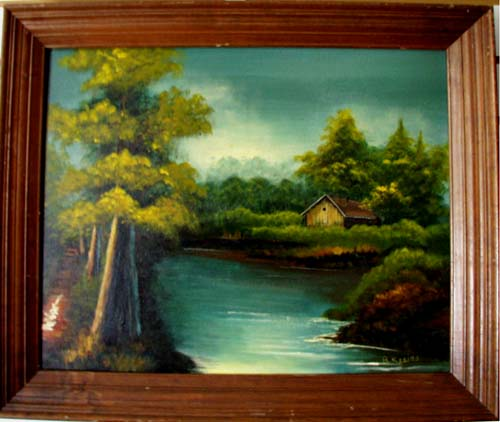 Scenery painting by B. Reeiso,