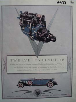Cadillac Twelve Cylinders Ad 1930