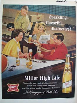 Miller High Life Pleasure for Everyone Ad 1964