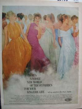 DuPont New World Tricot Fabrics Ad 1960