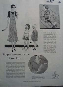 Simple Patterns for Extra Gift. Ad 1930