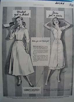 Sanforized Mable Got A Label Ad 1949