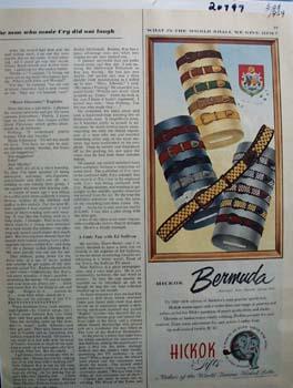 Hickok Belts Most Popular Ad 1959