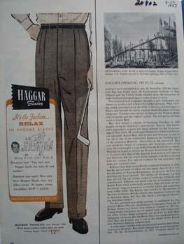 Haggar Slacks Its The Fashion Ad 1957