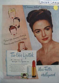 Max Factor Tru Color Lipstick Ad 1946