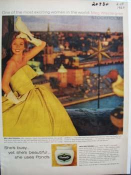 Ponds and Meg Westergren Ad 1960