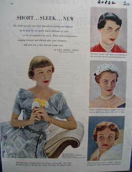 Short Hairstyles For Women Ad 1949
