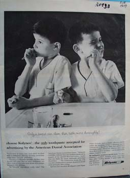 Kolynos Toothpaste Only A Dentist Ad 1959
