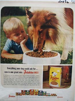 Friskies Now IN One Great Mix Ad 1964