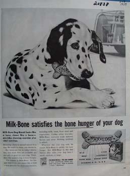Milk Bone Satisfies Your Dog Ad 1959
