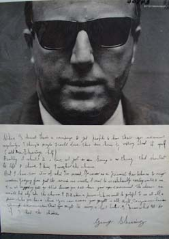 George Shearing Pianist Picture and Letter 1964