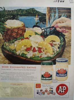 A and P Food Stores Mayonnaise Ad 1958