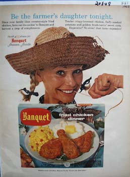 Banquet Dinner Be Farmers Daughter Ad 1965