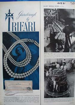 Trifari Gainsborough Pearls Ad 1959