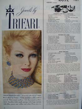 Trifari Mediterranean Jewels Ad 1960
