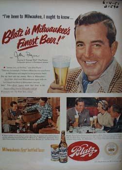 Blatz Beer And John Payne 1951