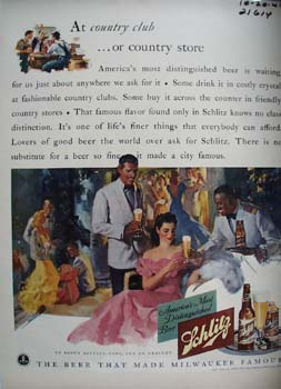 Schlitz Beer At Country Club Ad 1941