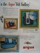 Argus Camera Christmas Ad 1953.