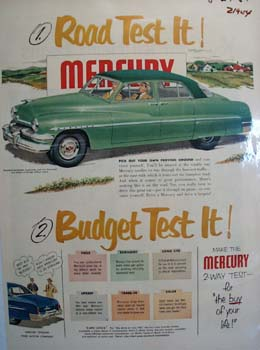 Mercury Road Test It Ad 1951