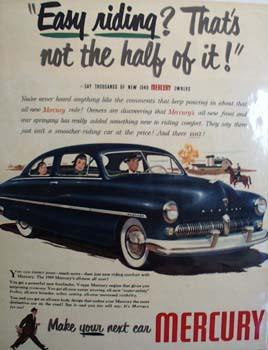 Mercury Easy Riding Ad 1948