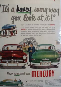 Mercury Its A Honey Ad 1949