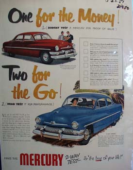 Mercury One For The Money Ad 1959