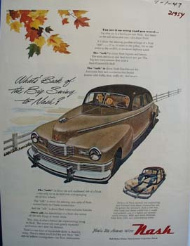 Nash Back Of The Big Swing Ad 1947