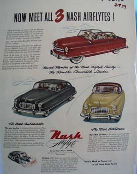 Nash Meet All Three Ad 1950