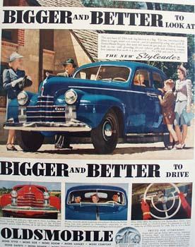 Oldsmobile New Styleader Ad 1940