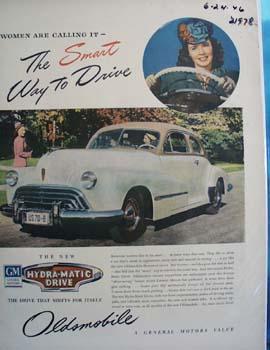 Oldsmobile Women Call It Ad 1946