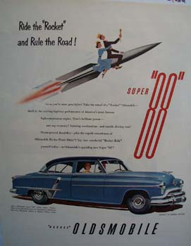 Oldsmobile Ride The Rocket Ad 1951