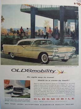 Oldsmobile Agile Way To Travel Ad 1958