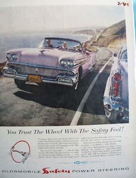 Oldsmobile Trust The Wheel Ad 1958