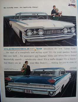 Oldsmobile So Totally New Ad 1958