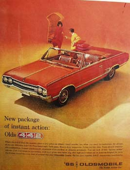 Oldsmobile New Package Instant Action Ad 1965