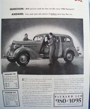 Packard Question And Answer Ad 1935