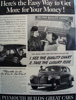 Plymouth Heres The Easy Way Ad 1940