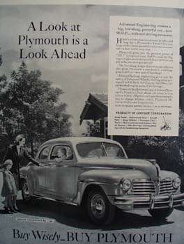Plymouth A Look Ahead Ad 1941